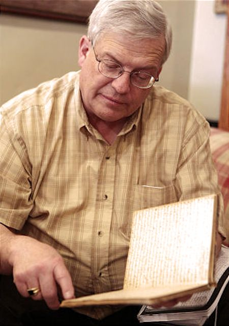 Brent F. Ashworth with rare documents