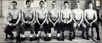 1963-1964 BYH Wrestling Team - Row 1