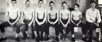 1963-1964 BYH Wrestling Team - Row 2