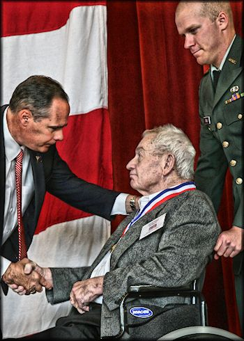 Clayton Bushnell, Honored as Distinguished Veteran