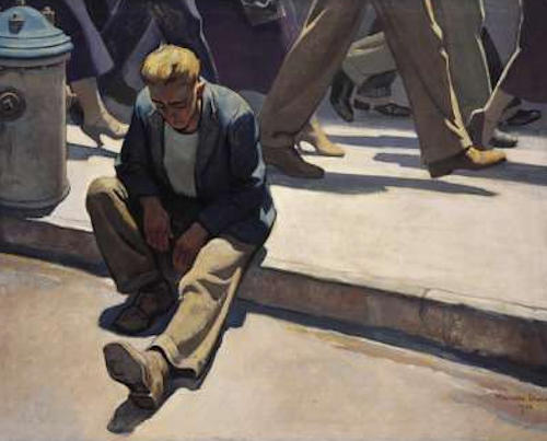 Maynard Dixon-Forgotten Man-1934-Oil on canvas