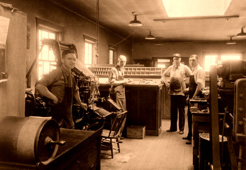 Graham Family in New Century Printing Company