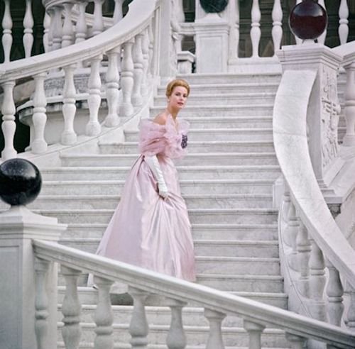 Grace Kelly in a pink gown