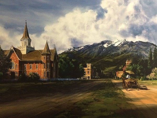 Provo Tabernacle Painting by Al Rounds