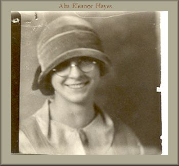 Alta Eleanor Hayes, BYH Class of 1925