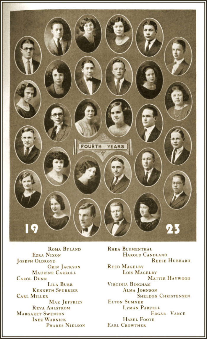 The Class of 1923 of Brigham Young High School