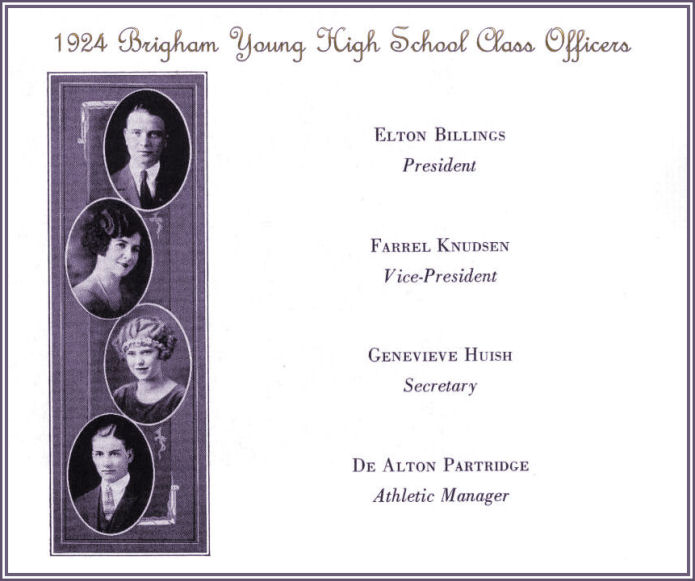 The Class of 1924 of Brigham Young High School