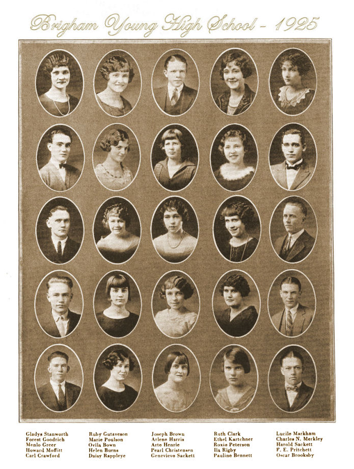 The Class of 1925 of Brigham Young High School