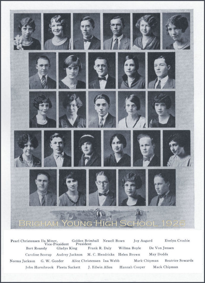 The Class of 1926 of Brigham Young High School