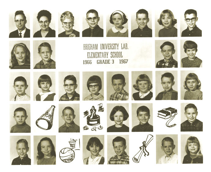 Class of 1976 in Third Grade, BYU Training School