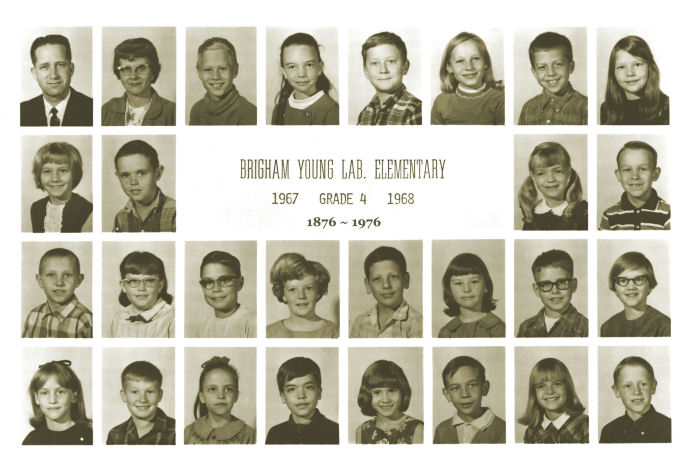 Class of 1976 in Fourth Grade, 1968, Last Year