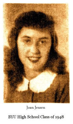Joan Jensen, daughter of C. L. and Florence Jensen