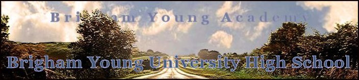 Brigham Young High School Banner No. 14 - 157