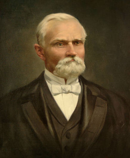 Portrait of Karl G. Maeser painted by Emil Kosa
