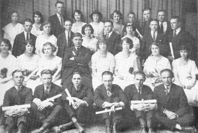 Graduating Class of 1921 - Brigham Young High Sch.