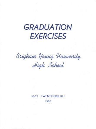 BYH Class of 1952 Graduation Program 1