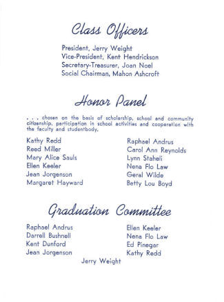 BYH Class of 1952 Graduation Program 4