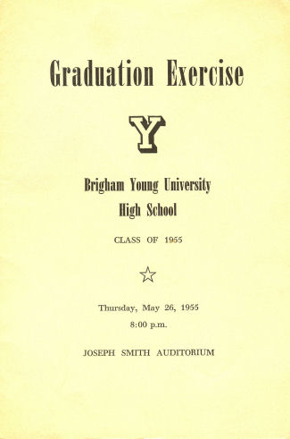 Brigham Young High School 1955 Grad Program 1