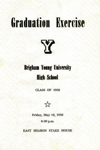 BYH Class of 1956 Graduation Program 1