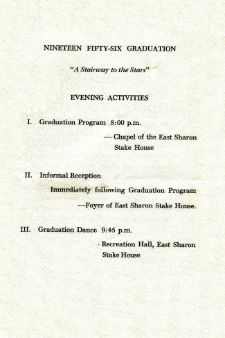 BYH Class of 1956 Graduation Program 2