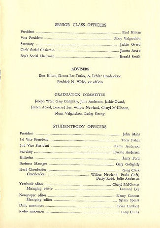 Brigham Young High School 1969 Grad Program 3