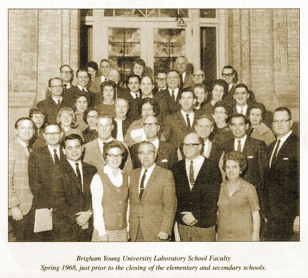 Brigham Young High School Faculty 1968