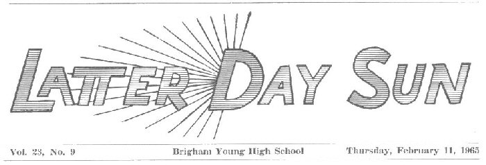 Latter-Day Sun student newspaper masthead 1964-64