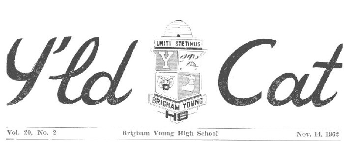 Y'ld Cat student newspaper masthead early 1960s