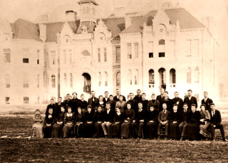 Brigham Young Academy Class of 1896 in 1893.