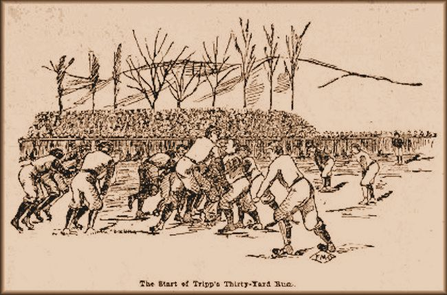 1896 Football - BYA vs U of U - No headgear!