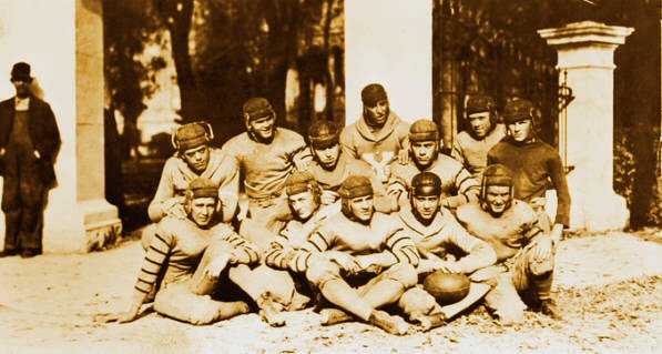 1920 BYH Football Team by the Pearly Gates