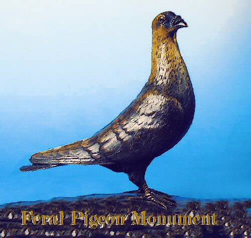 Statue Design: the Feral Memorial Pigeon