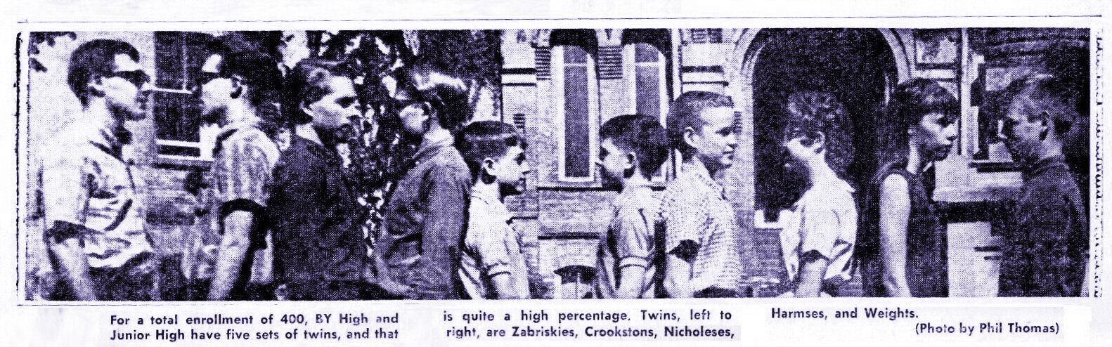 Photo by Phil Thomas - 5 sets of twins at BYH