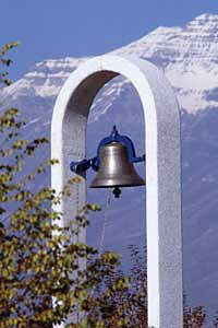Old BYU Bell now in tower near Marriott Center