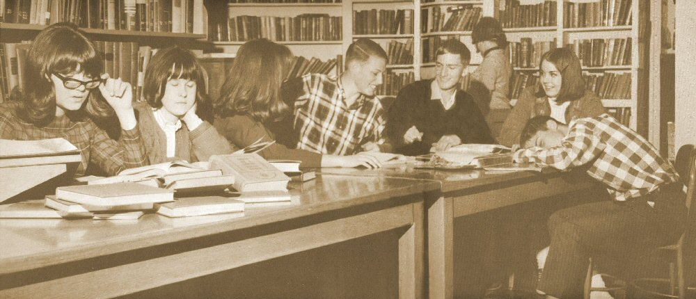 Brigham Young High School Library - 1965