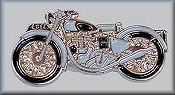 1950 Enfield Motorcycle Pin