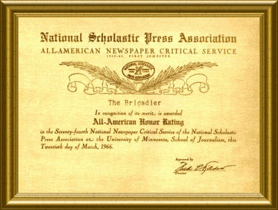 All-American Newspaper Award - Brigadier
