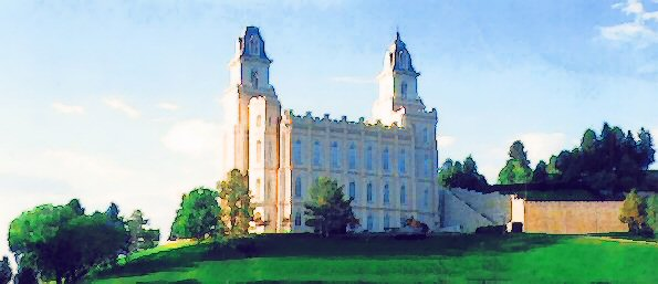 Manti LDS Temple watercolor